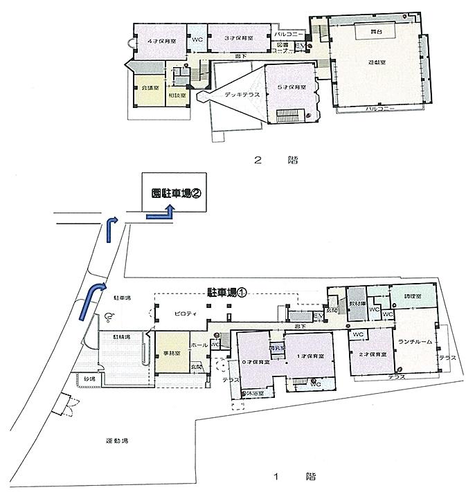 長野保育園のアクセスマップ